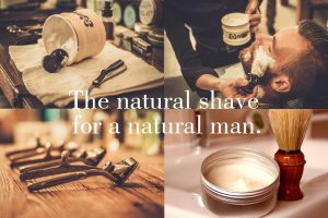 The natural shave for a natural man.