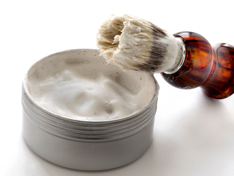 Shaving soap with natural ingredients