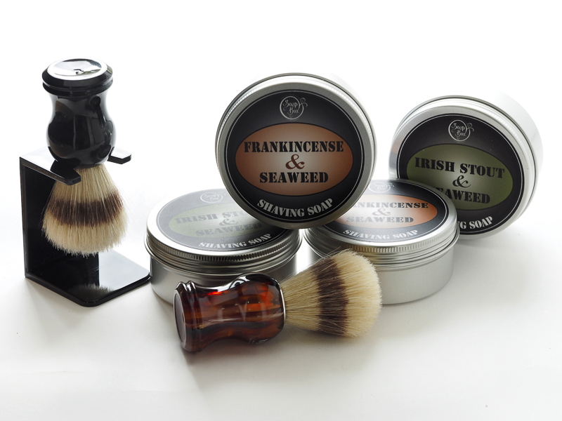 Selection of shaving soaps