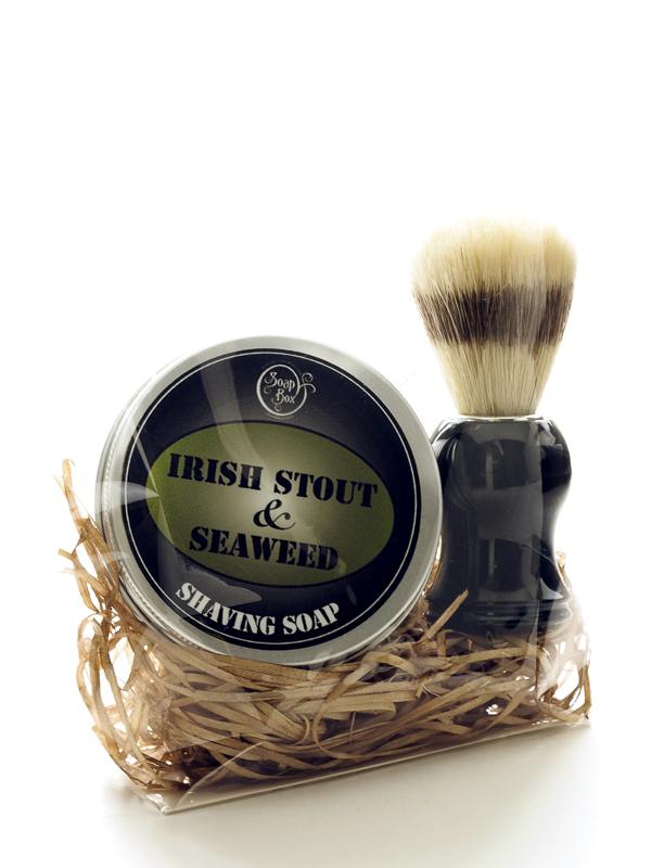 Shaving soap and brush set